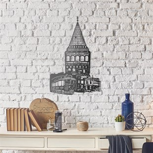 Galata Tower Metal Wall Art