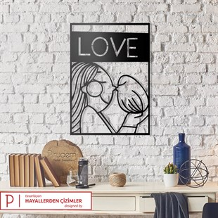Only Love Metal Wall Art