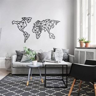 World Map Metal Wall Art